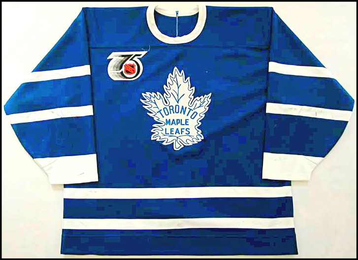 THE MAPLE LEAFS WORE THE ABOVE JERSEY ON SEVERAL OCCASIONS DURING THE  1991–92 SEASON TO HELP CELEBRATE THE NHL s 75TH ANNIVERSARY. be8799b26ef