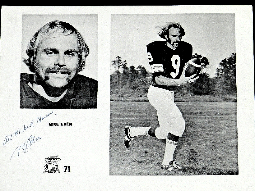 UNFLASHY BUT THE ARGOS' BEST POSSESSION RECEIVER IN 1971 FROM THE UNIVERSITY OF TORONTO